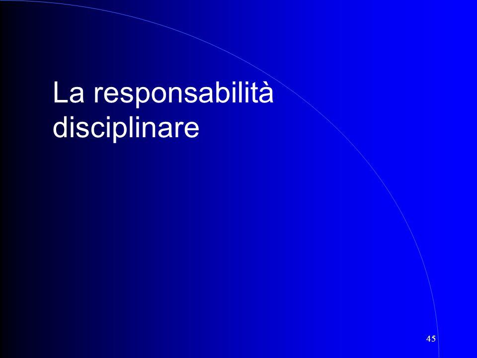 45 La responsabilità disciplinare