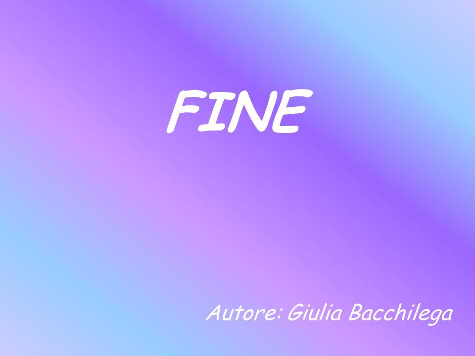 FINE Autore: Giulia Bacchilega