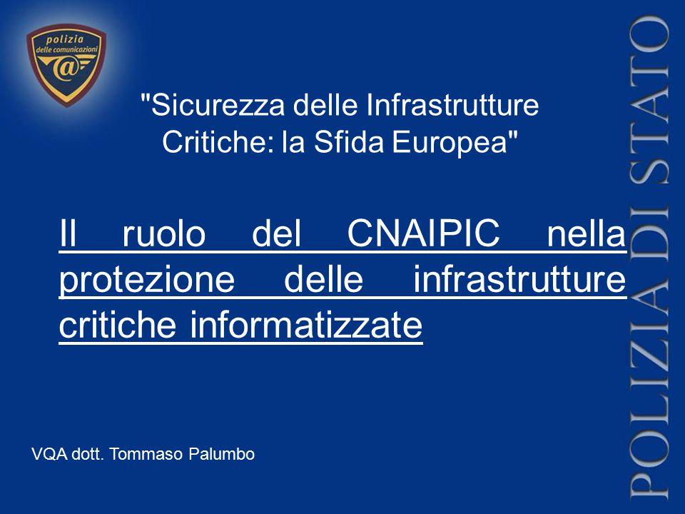 Il ruolo del CNAIPIC nella protezione delle infrastrutture critiche informatizzate