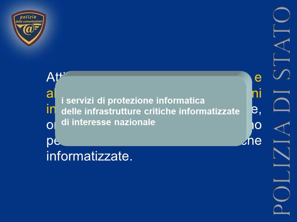 Attività finalizzata alla prevenzione e alla repressione dei crimini informatici di matrice comune, organizzata o terroristica, che hanno per obiettiv