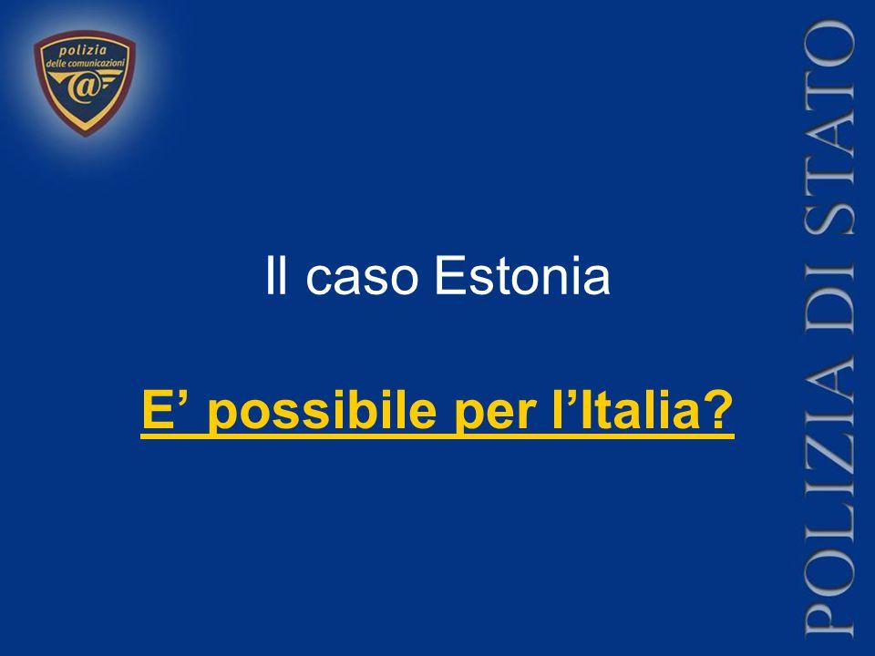 Il caso Estonia E' possibile per l'Italia?