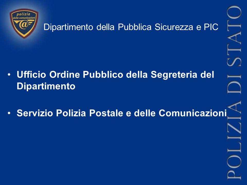 Ufficio Ordine Pubblico della Segreteria del Dipartimento Si occupa degli aspetti attinenti alla prevenzione delle attività criminose che possano ledere l'integrità fisica delle infrastrutture critiche e del coinvolgimento delle Forze di polizia per situazioni di protezione e difesa civile.