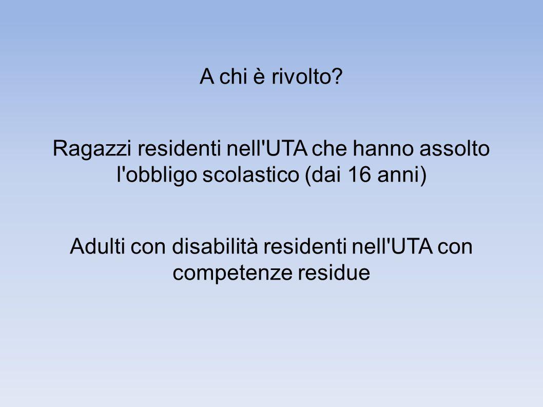 Modalità di accesso ● Invio dal servizio sociale (unità U.V.M.