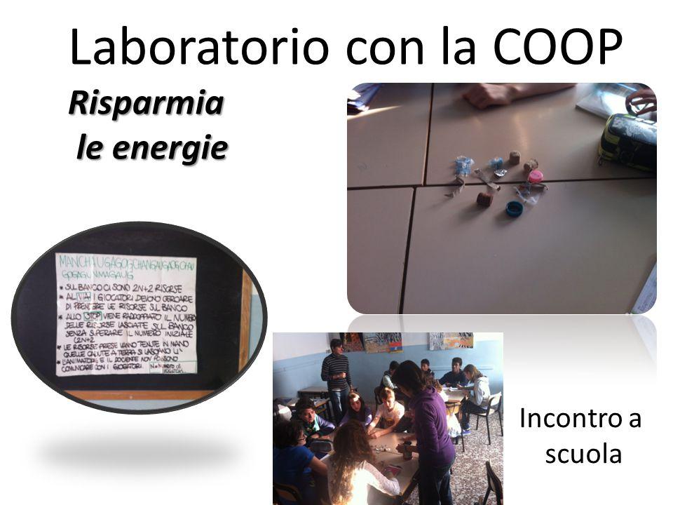 Laboratorio con la COOPRisparmia le energie le energie Incontro a scuola