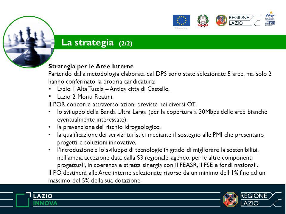 Strategia per le Aree Interne Partendo dalla metodologia elaborata dal DPS sono state selezionate 5 aree, ma solo 2 hanno confermato la propria candid