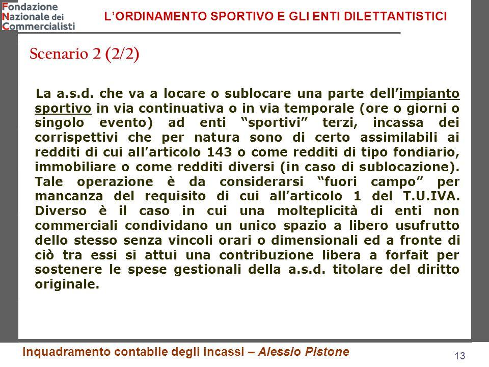 13 L'ORDINAMENTO SPORTIVO E GLI ENTI DILETTANTISTICI La a.s.d.