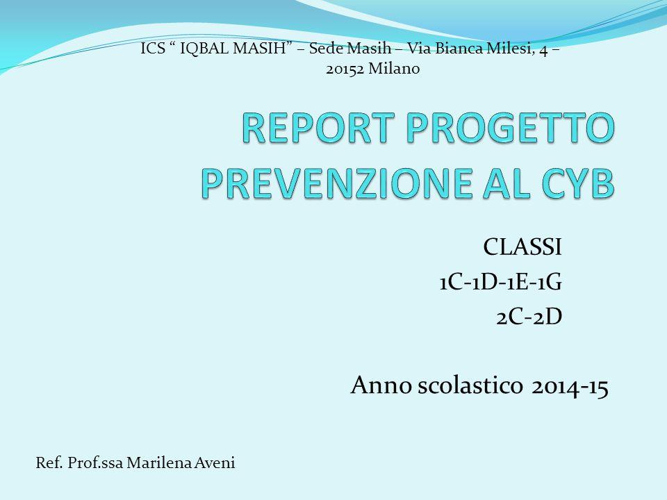 CLASSI 1C-1D-1E-1G 2C-2D Anno scolastico 2014-15 Ref.