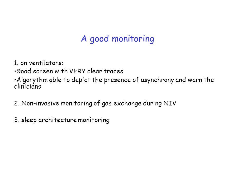 A good monitoring 1.