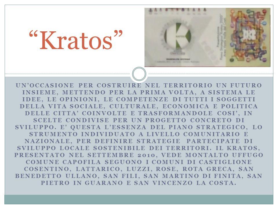 Kratos 2020 Si sviluppa attraverso 5 linee portanti: Sostenibilità Reti e mobilità Governance e processi Produzione e servizi Ambiente e territorio Città e solidarietà