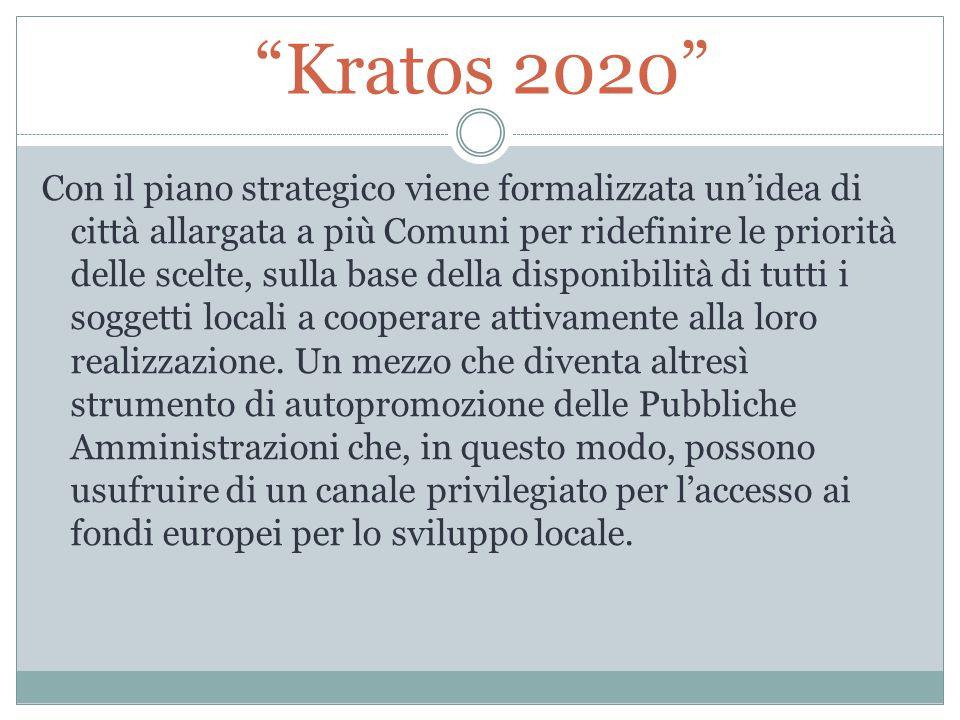 """""""Kratos 2020"""" Con il piano strategico viene formalizzata un'idea di città allargata a più Comuni per ridefinire le priorità delle scelte, sulla base d"""