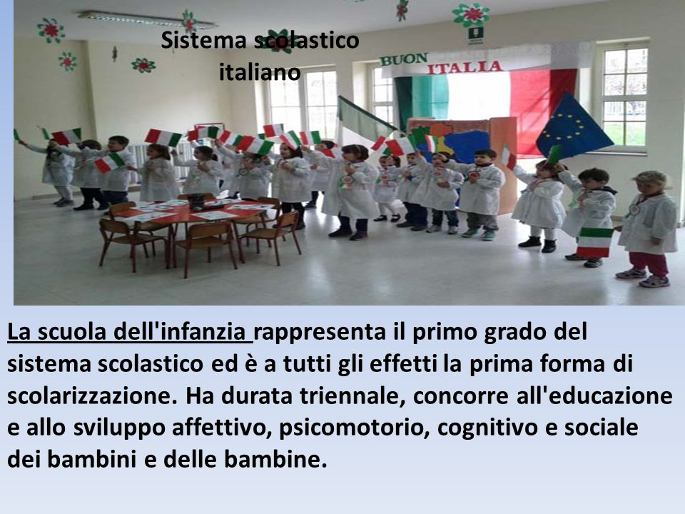 Sistema scolastico italiano La scuola italiana è una scuola libera, dove gli alunni vengono educati al pensiero libero e critico, fenomeno che non avviene nella scuola cinese.