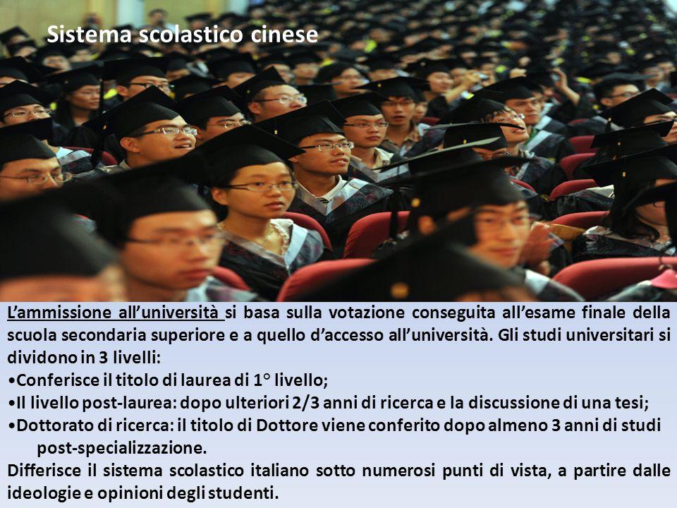 L'ammissione all'università si basa sulla votazione conseguita all'esame finale della scuola secondaria superiore e a quello d'accesso all'università.