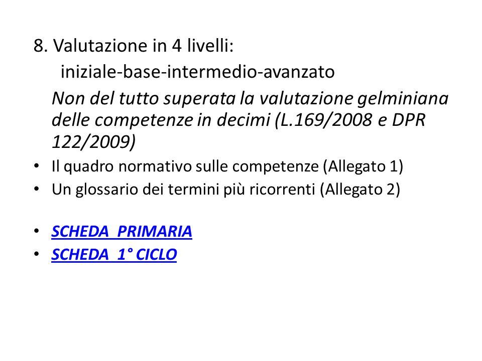 Indicazioni per la certificazione competenze all'assolvimento dell'obbligo D.M.