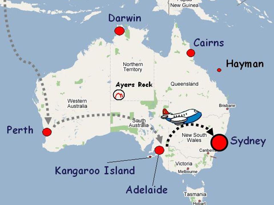 11-12 settembre 2006 - In tarda mattinata trasferimento con guida in italiano in aeroporto e volo per Sydney.
