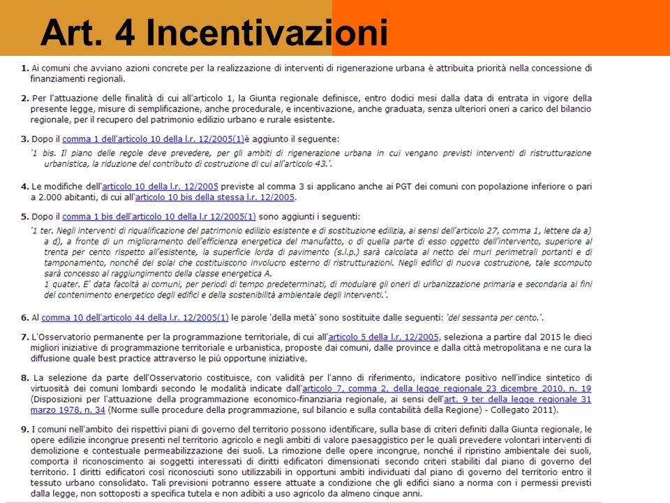 Art. 4 Incentivazioni