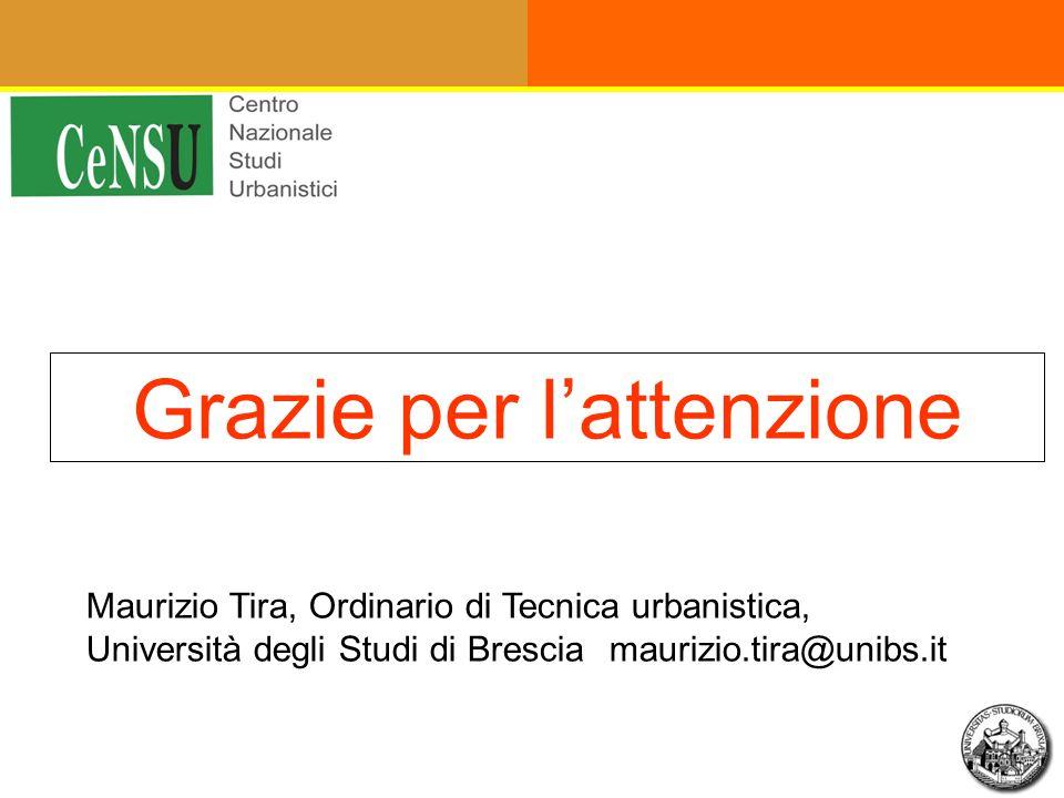Grazie per l'attenzione Maurizio Tira, Ordinario di Tecnica urbanistica, Università degli Studi di Bresciamaurizio.tira@unibs.it