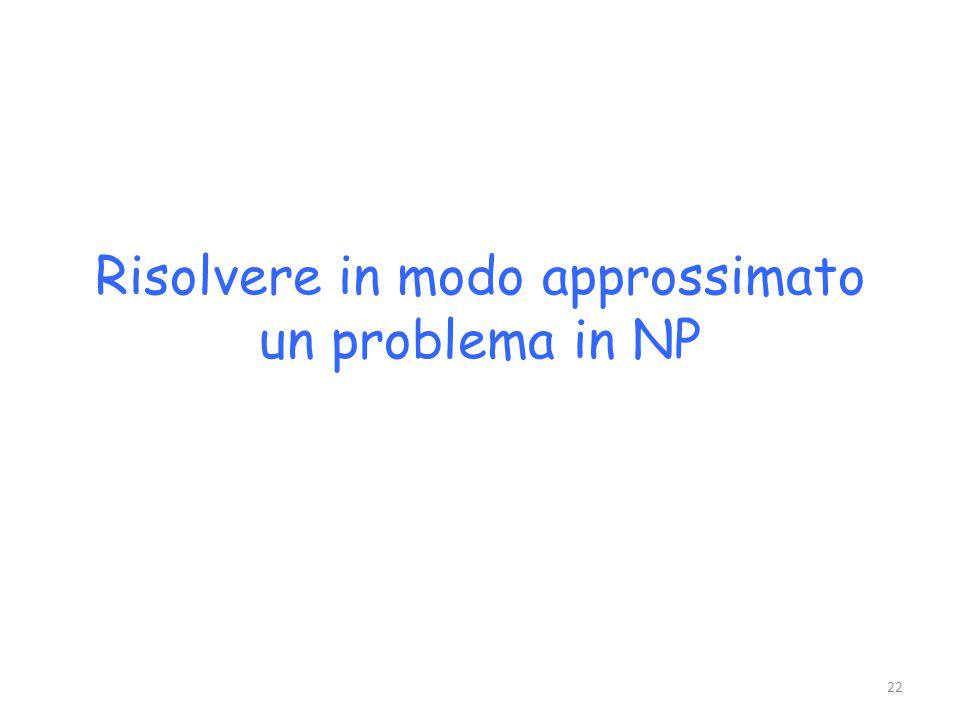 Risolvere in modo approssimato un problema in NP 22