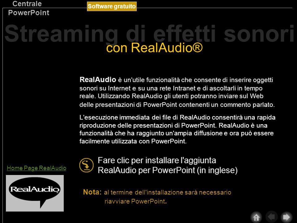 Software gratuito Centrale PowerPoint I video digitali e le animazioni consentono di conferire un aspetto professionale a presentazioni e pagine Web.