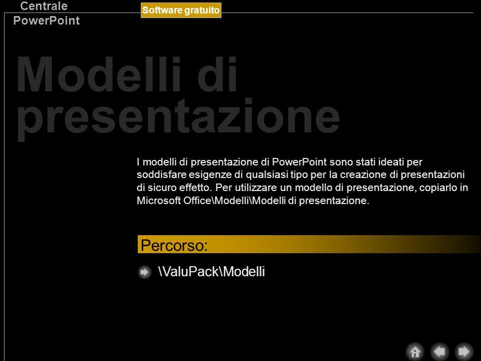 Software gratuito Centrale PowerPoint Modelli struttura I modelli struttura consentono di rendere più vivace l aspetto delle presentazioni di PowerPoint e aumentare l impatto comunicativo.