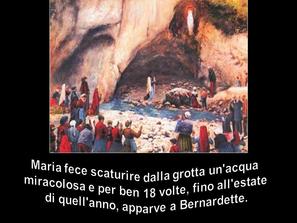 e capì che la Madre di Gesù, l'Immacolata, appariva veramente alla ragazza.