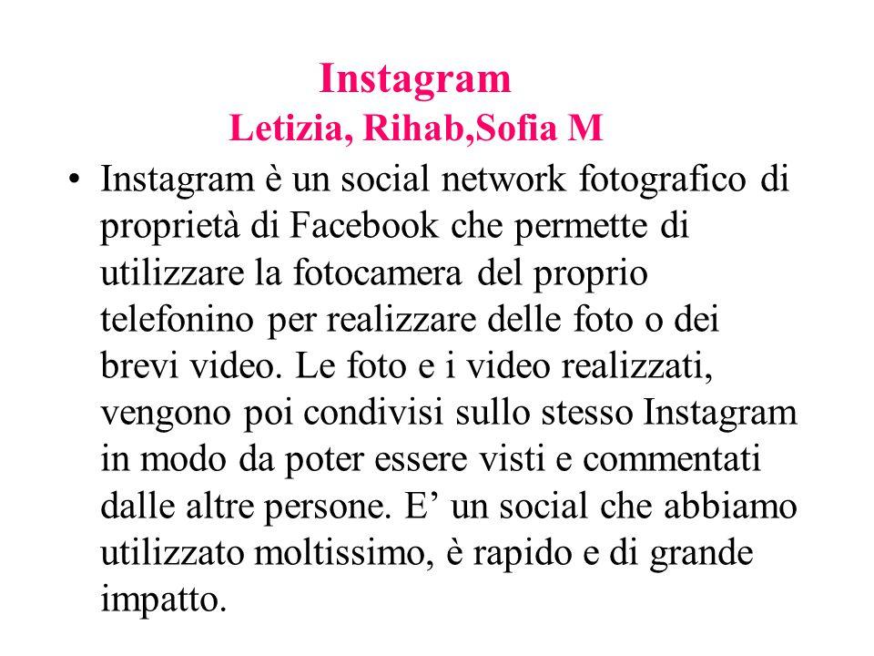 Instagram è un social network fotografico di proprietà di Facebook che permette di utilizzare la fotocamera del proprio telefonino per realizzare dell