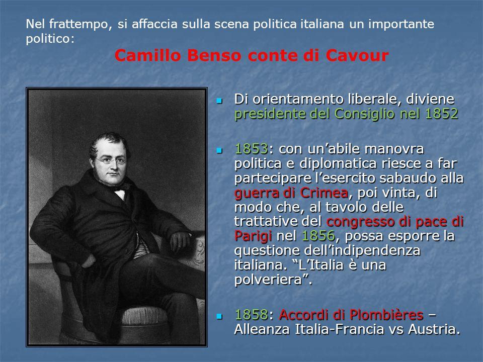Di orientamento liberale, diviene presidente del Consiglio nel 1852 Di orientamento liberale, diviene presidente del Consiglio nel 1852 1853: con un'a