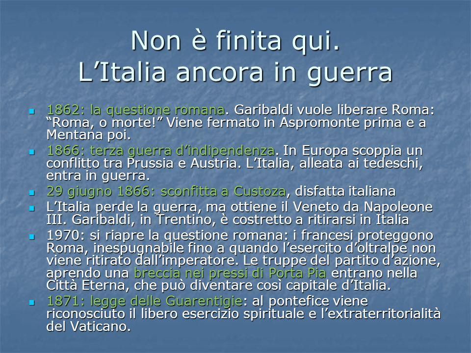 """Non è finita qui. L'Italia ancora in guerra 1862: la questione romana. Garibaldi vuole liberare Roma: """"Roma, o morte!"""" Viene fermato in Aspromonte pri"""