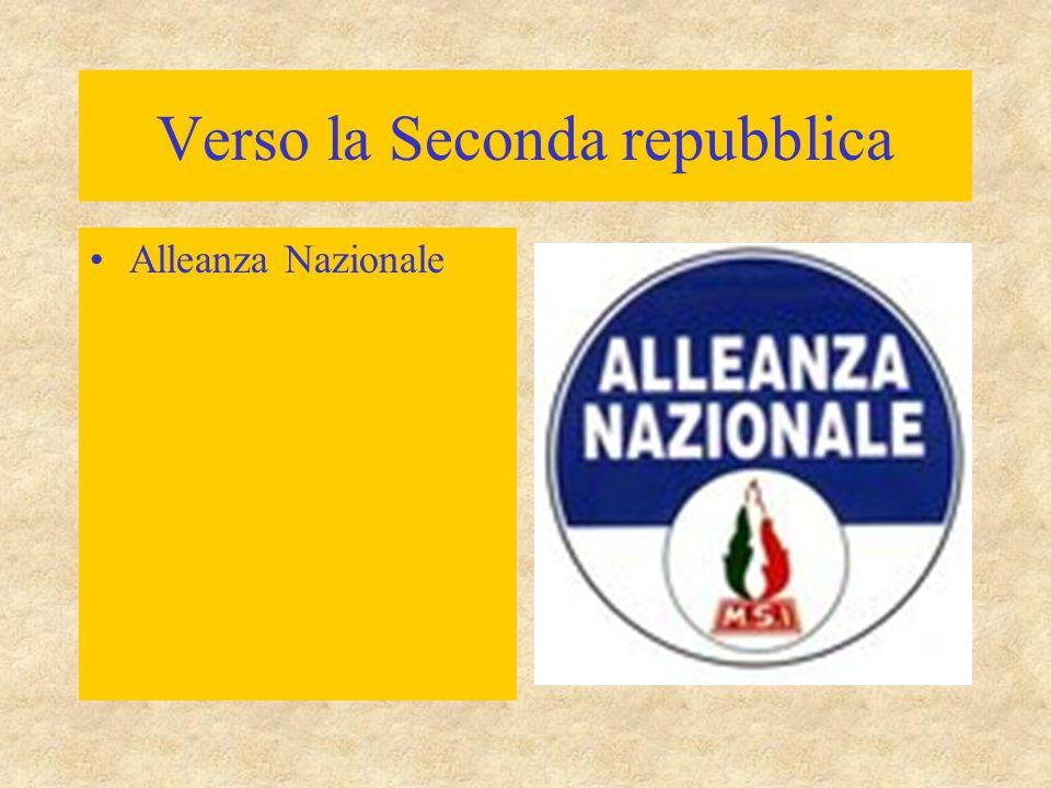 Verso la Seconda repubblica Alleanza Nazionale
