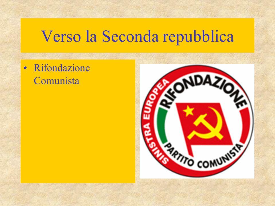 Verso la Seconda repubblica Rifondazione Comunista