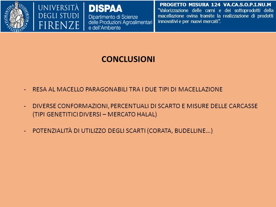 """CONCLUSIONI PROGETTO MISURA 124 VA.CA.S.O.P.I.NU.M """"Valorizzazione delle carni e dei sottoprodotti della macellazione ovina tramite la realizzazione d"""