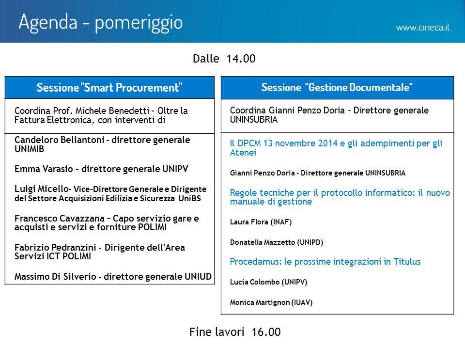 www.cineca.it Agenda - pomeriggio Sessione