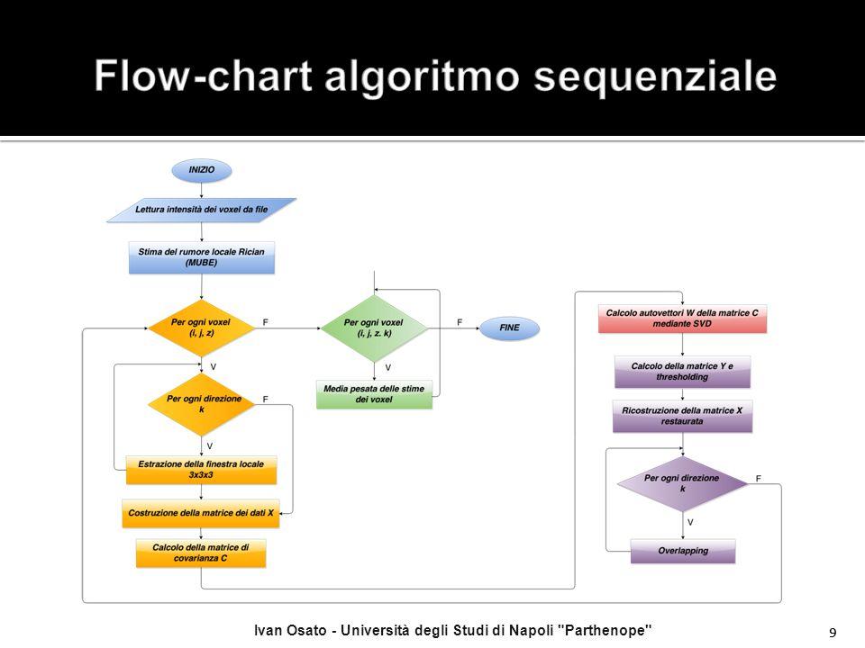 Ivan Osato - Università degli Studi di Napoli Parthenope 20 Risultati di output che si ottengono dall'esecuzione dell'algoritmo per un z fissato (z = 0), esaminando le direzioni k = 0, 5, 9 con i livelli di rumore 3% e 5%.