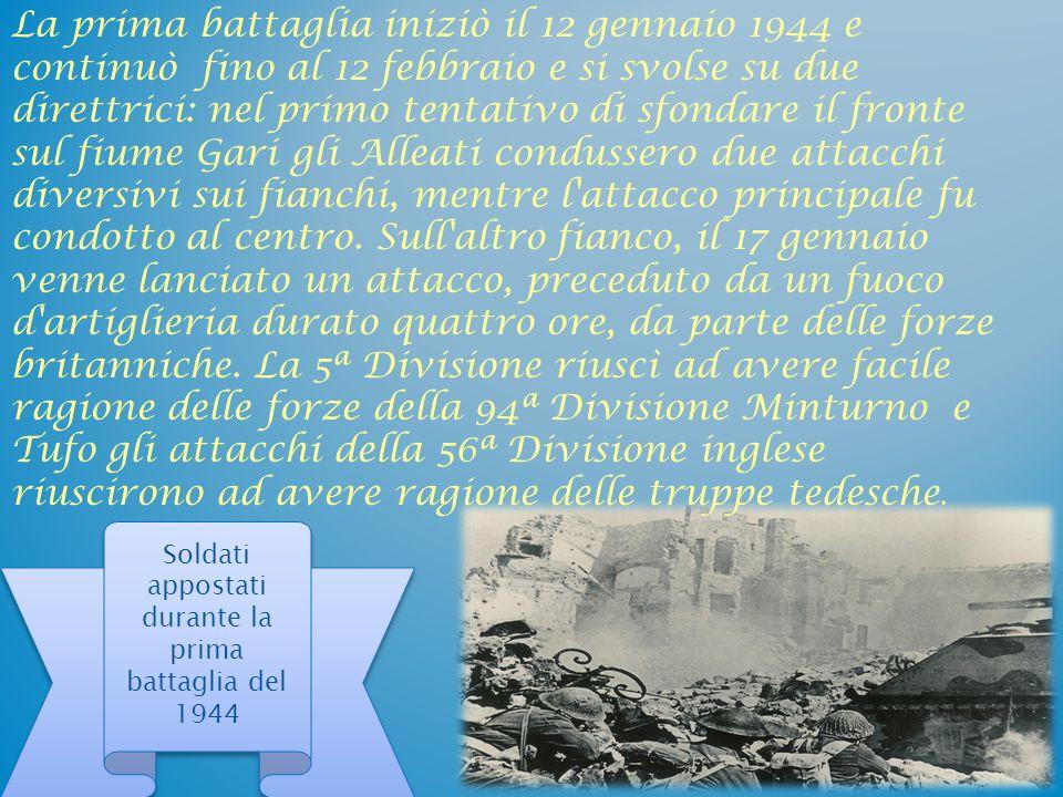 Seconda battaglia (il bombardamento di Montecassino) Paracadutisti tedeschi a Montecassino Essa fu, di fatto, la continuazione della prima, ma dalle posizioni avanzate appena sotto l'abbazia e alla periferia della cittadina di Cassino.