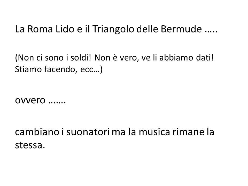 La Roma Lido e il Triangolo delle Bermude ….. (Non ci sono i soldi.