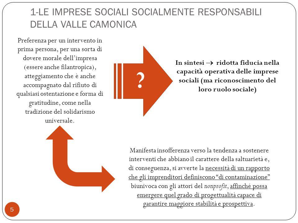 5 In sintesi  ridotta fiducia nella capacità operativa delle imprese sociali (ma riconoscimento del loro ruolo sociale) .