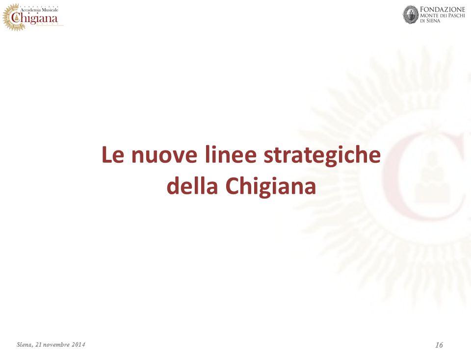 Le nuove linee strategiche della Chigiana 16 Siena, 21 novembre 2014