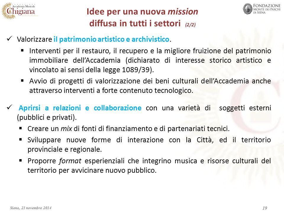 19 Valorizzare il patrimonio artistico e archivistico.