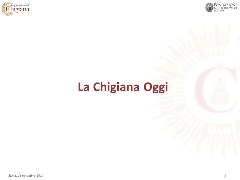  L'Accademia Musicale Chigiana fu fondata dal Conte Guido Chigi Saracini nel 1932 con il fine di organizzare Corsi di Perfezionamento musicale.