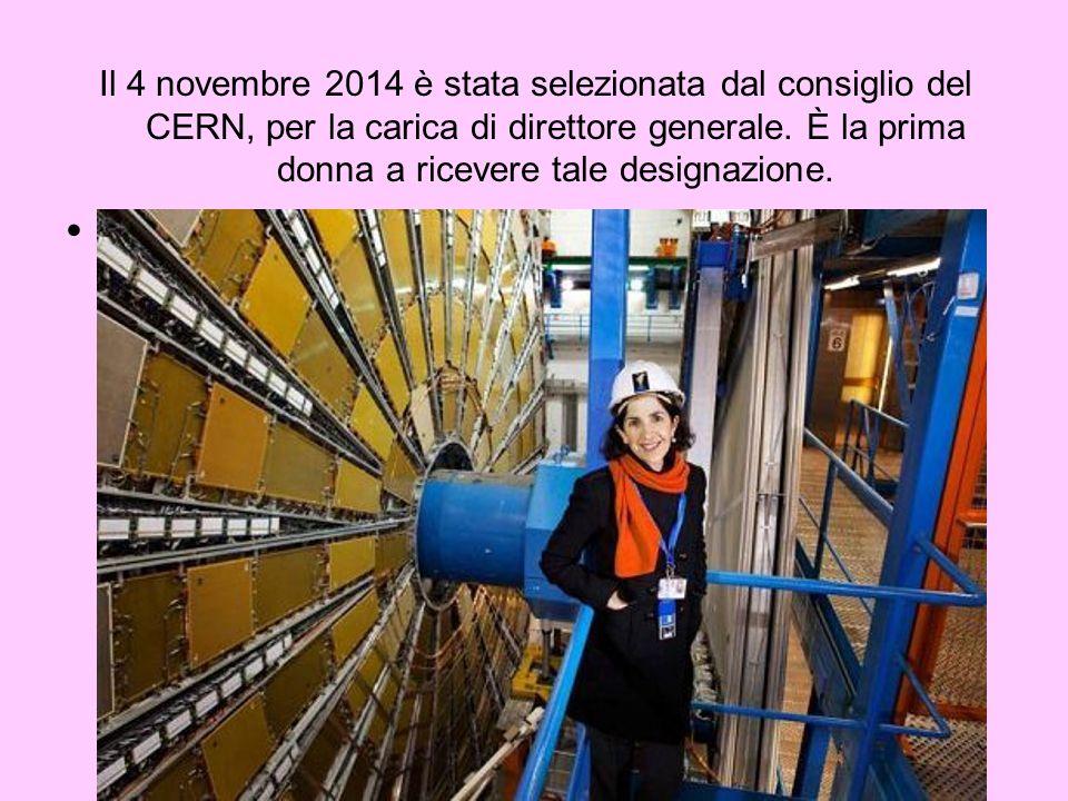 Il 4 novembre 2014 è stata selezionata dal consiglio del CERN, per la carica di direttore generale. È la prima donna a ricevere tale designazione.