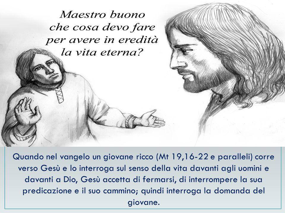 Lasciando in ogni caso libero il giovane, che potrà decidere altrimenti, come il giovane del testo evangelico, che «se ne andò triste» (Mt 19,22).