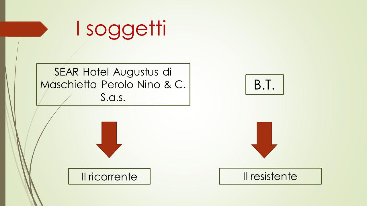 I soggetti B.T. Il ricorrente SEAR Hotel Augustus di Maschietto Perolo Nino & C. S.a.s. Il resistente