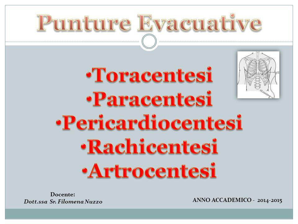 Docente: Dott.ssa Sr. Filomena Nuzzo ANNO ACCADEMICO - 2014-2015
