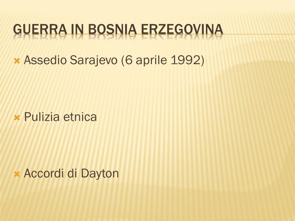  La Jugoslavia era una nazione creata dopo l occupazione tedesca durante la II Guerra Mondiale e costituita da 6 repubbliche e 2 provincie autonome: Croazia, Serbia, Bosnia ed Erzegovina, Macedonia, Montenegro, Slovenia più le province serbe del Kosovo e di Voivodina.