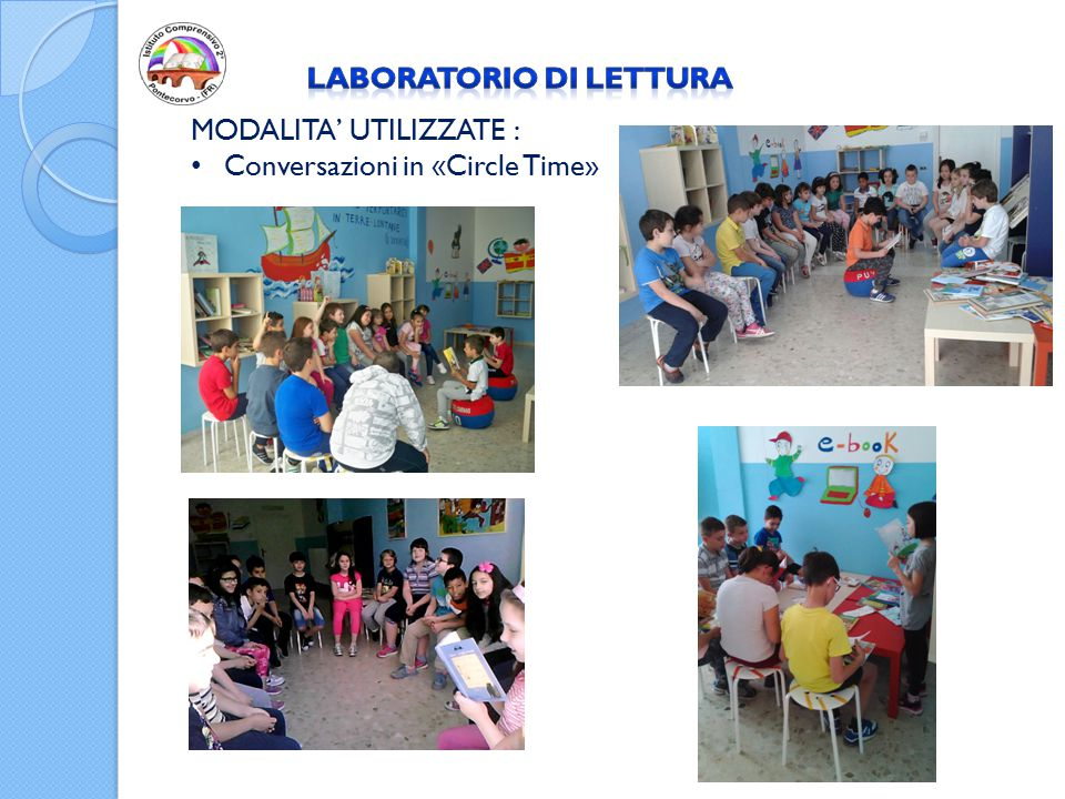 MODALITA' UTILIZZATE : Conversazioni in «Circle Time»