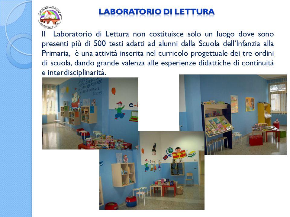 Il Laboratorio di Lettura non costituisce solo un luogo dove sono presenti più di 500 testi adatti ad alunni dalla Scuola dell'Infanzia alla Primaria,