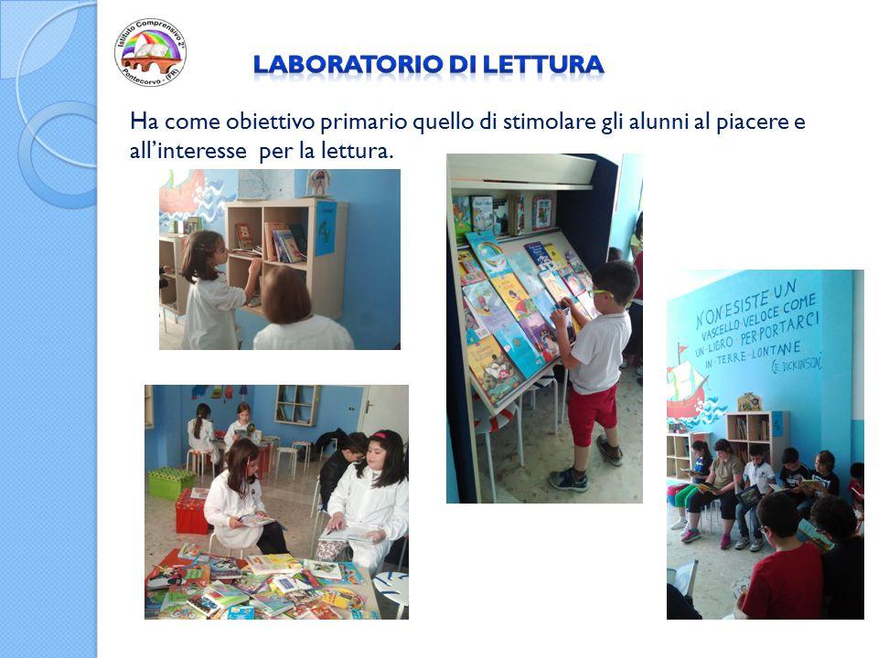 Ha come obiettivo primario quello di stimolare gli alunni al piacere e all'interesse per la lettura.