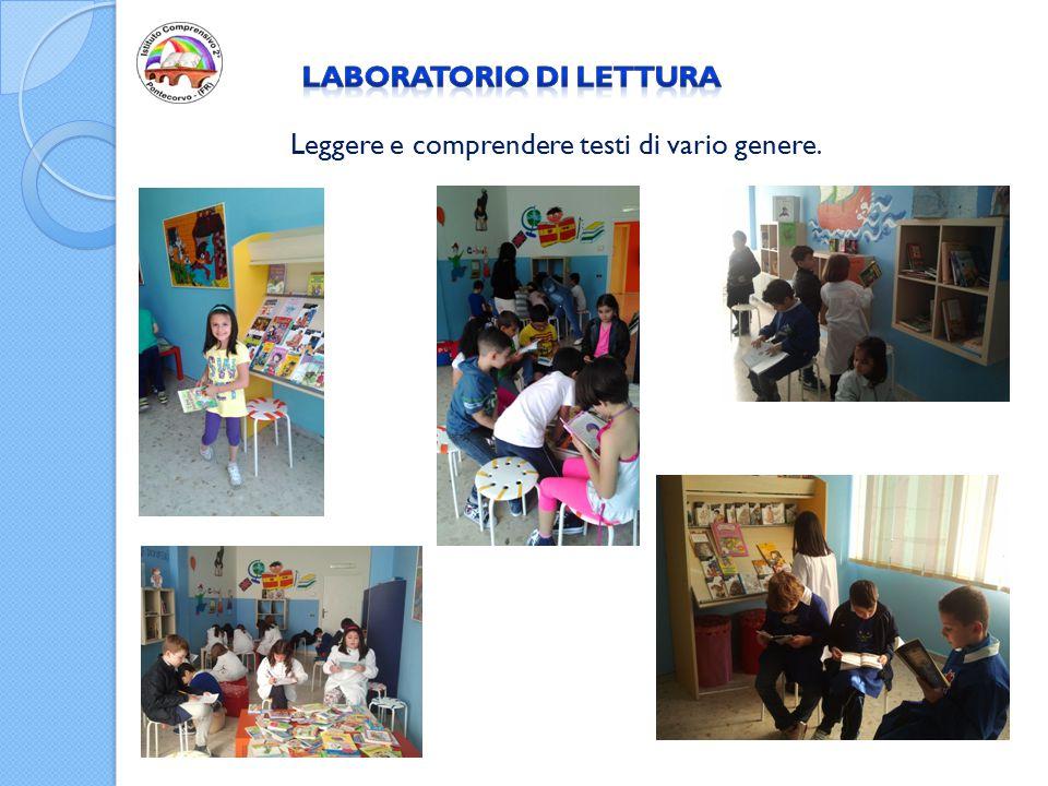 RINGRAZIAMENTI Grazie al Dirigente Scolastico Rita Cavallo che ha promosso e sostenuto la realizzazione del Laboratorio di lettura.