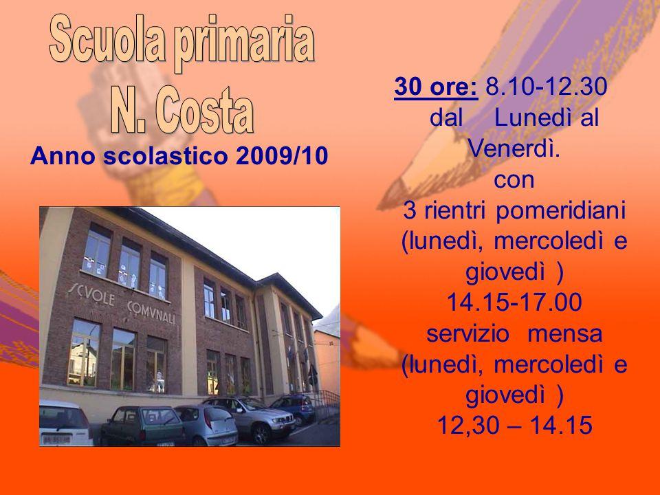 AMBITI DISCIPLINARICLASSE 1 CLASSE 2 CLASSE 3 CLASSE 4 CLASSE 5 ITALIANO 109888 INGLESE 12333 STORIA 22222 GEOGRAFIA 22222 MATEMATICA 88888 SCIENZE 22222 MUSICA 11111 ARTE ED IMMAGINE 11111 SCIENZE MOTORIE E SPORTIVE 11111 RELIGIONE CATTOLICA 22222 Totale ore 30 Anno scolastico 2009/2010