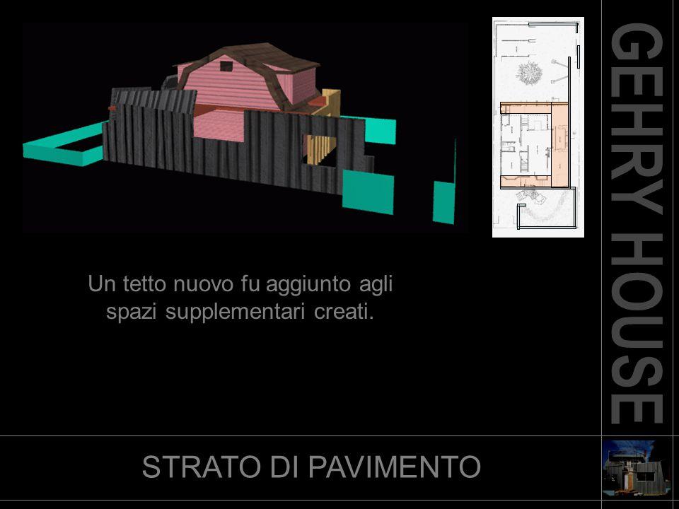 STRATO DI PAVIMENTO Un tetto nuovo fu aggiunto agli spazi supplementari creati.