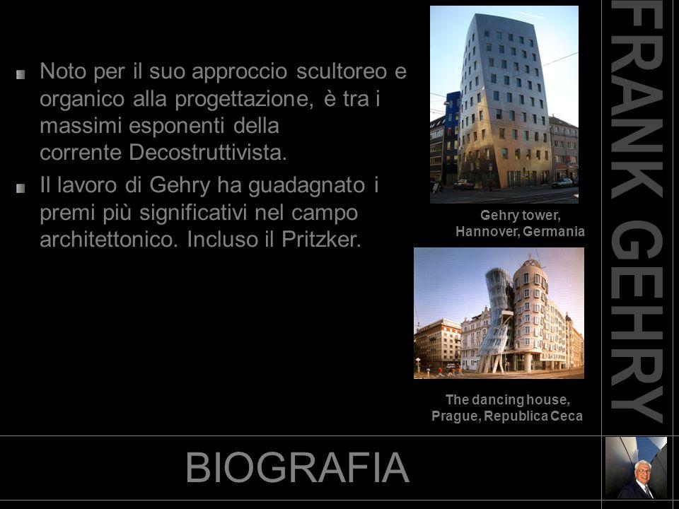 BIOGRAFIA Noto per il suo approccio scultoreo e organico alla progettazione, è tra i massimi esponenti della corrente Decostruttivista. Il lavoro di G